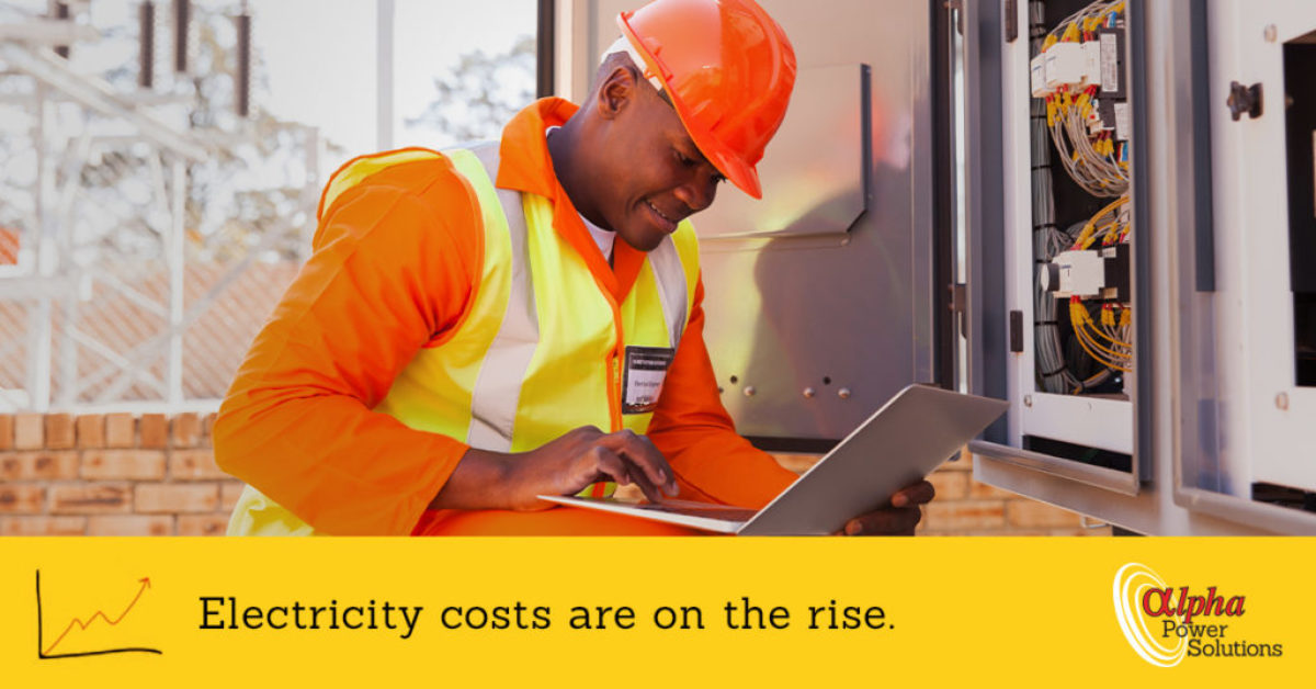 Electricity costs are on the rise