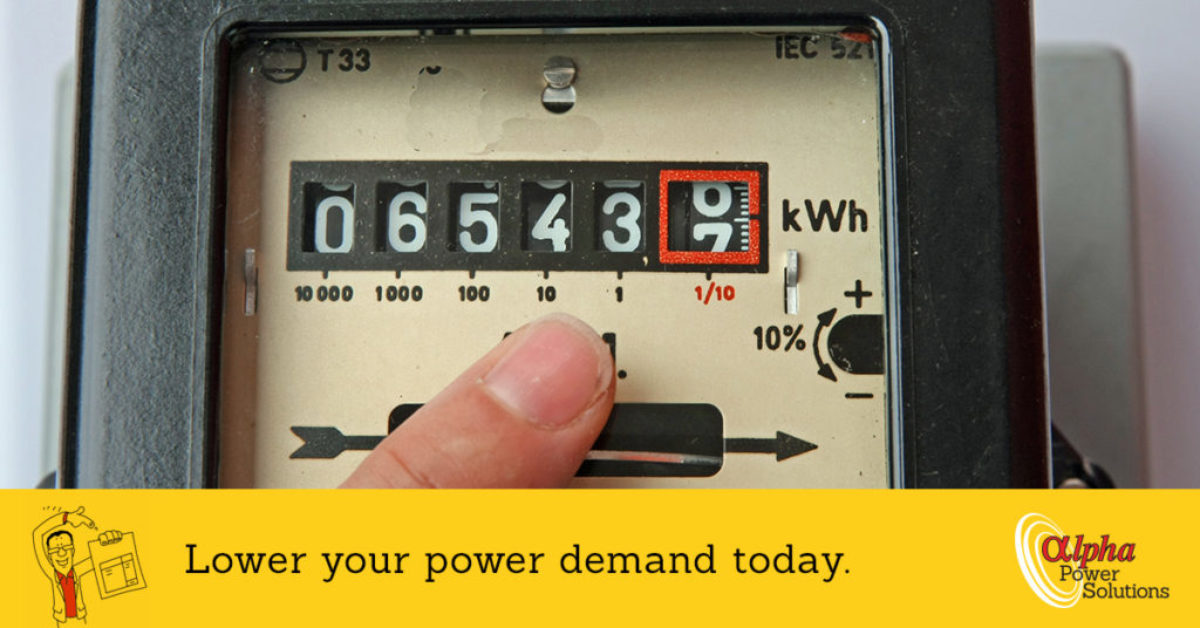 Lower your power demand today