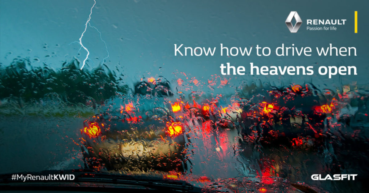 Know how to drive when the heavens open