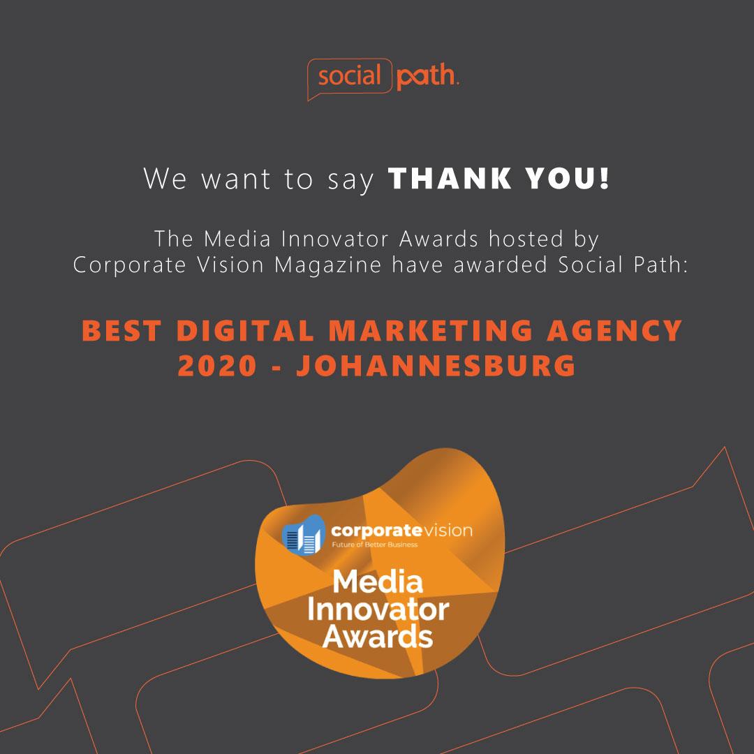 Best Digital Marketing Agency Award 2020